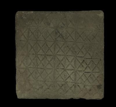 唐网格纹方砖
