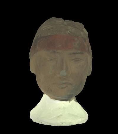 戴武弁的陶俑头