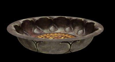 鎏金双狮纹银碗