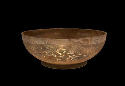 葡萄龙凤纹银碗