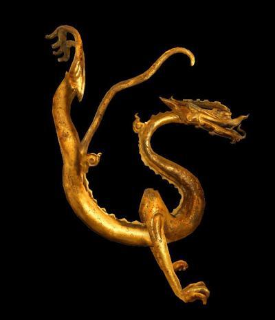 鎏金铁心铜龙