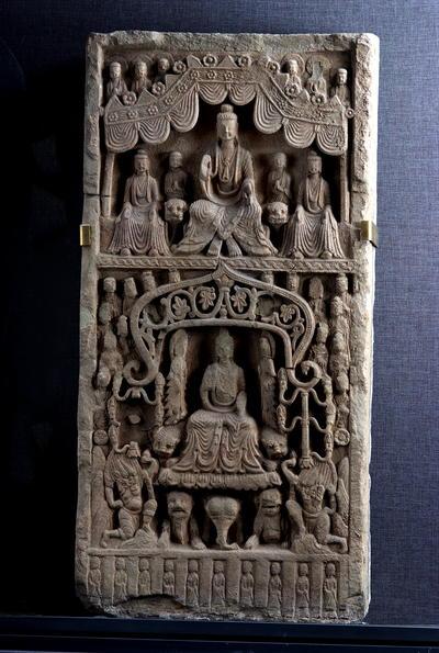释迦弥勒造像碑