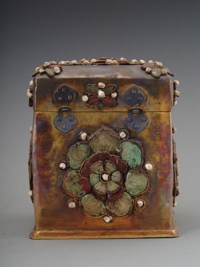 金筐宝钿珍珠纯金宝函