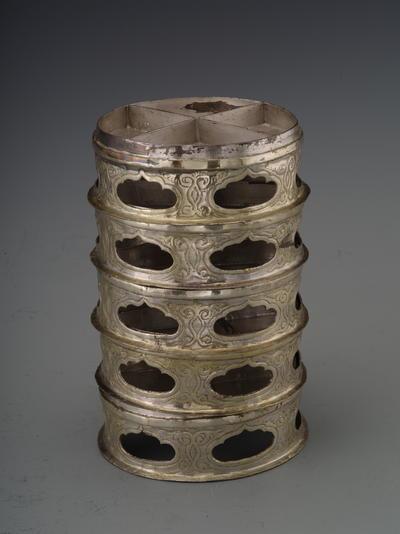鎏金壶门座银波罗子