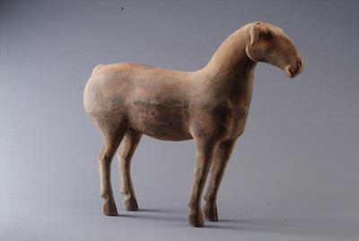 西汉彩绘陶绵羊