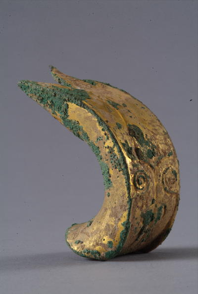 西汉鎏金铜扼首