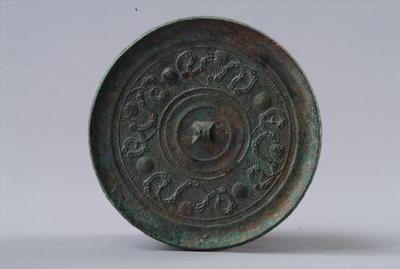 西汉四乳蟠螭纹铜镜