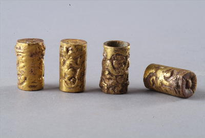 西汉鎏金铜横末饰