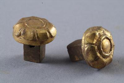 西汉鎏金铜车饰