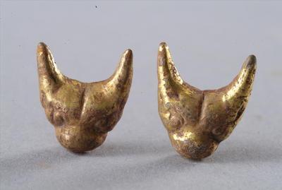 西汉鎏金兽面铜泡