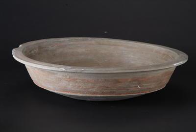西汉彩绘陶盆