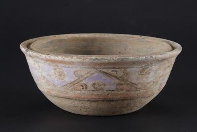 西汉彩绘陶盒