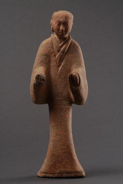 西汉塑衣式彩绘侍俑
