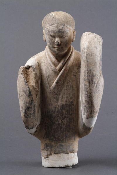 西汉塑衣式彩绘舞女俑